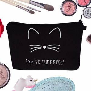 Handbags - Adorable Purrrfect Kitty Makeup Bag NWT
